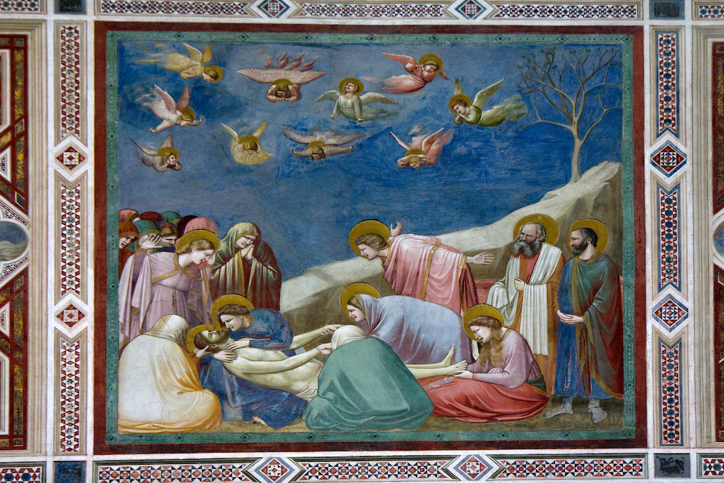 fresque de Giotto les lamentations du Christ