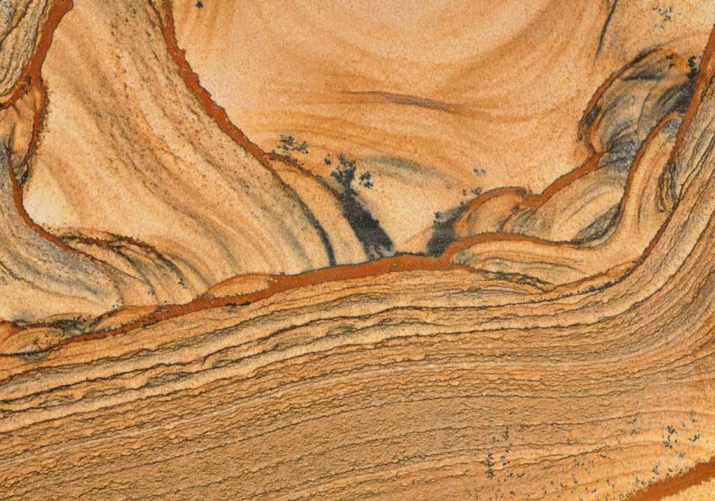 gros plan sur un jaspe paysage