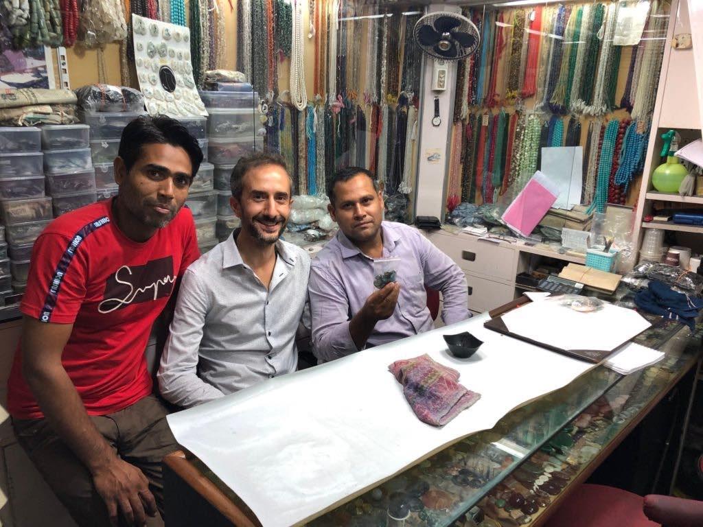 vendeurs de pierre indiens