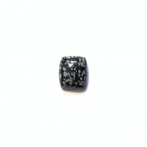 Obsidienne Floconnée 16×13.5x6mm