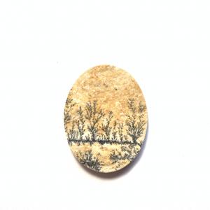 Psilomélane sur Calcaire 27.5×21.5×3.5mm