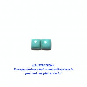 Turquoise de l'Arizona Calibrée 8x8mm (Paire)