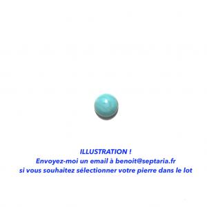 Turquoise de l'Arizona calibrée 8x8mm
